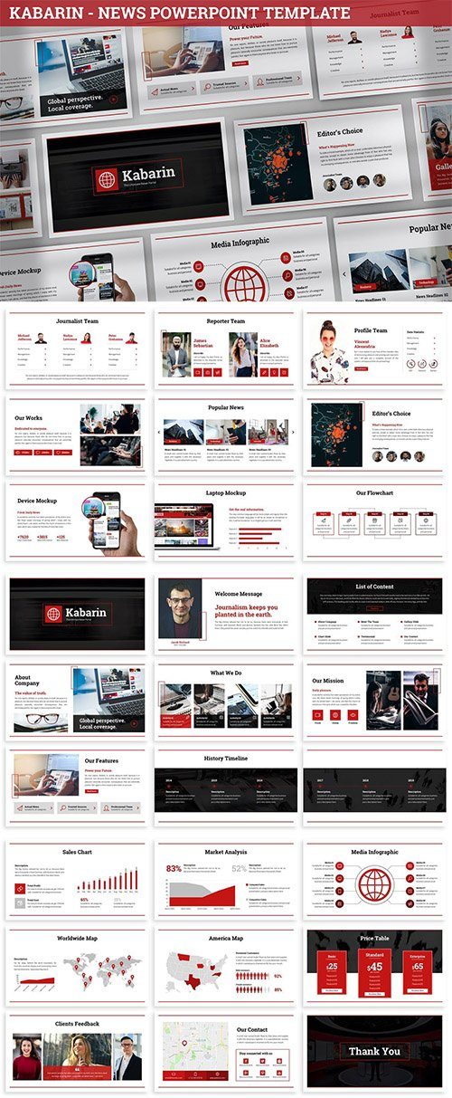 Kabarin - News Powerpoint Template