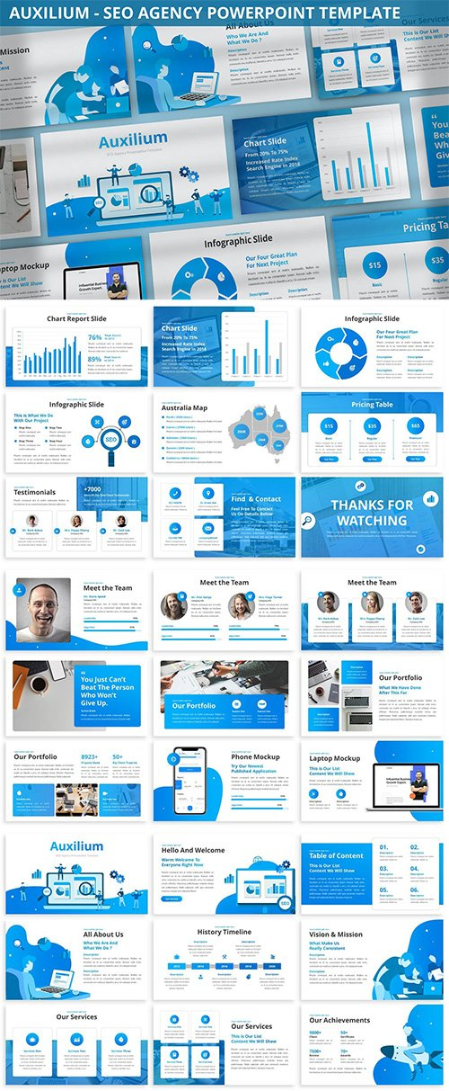 Auxilium - SEO Agency Powerpoint Template