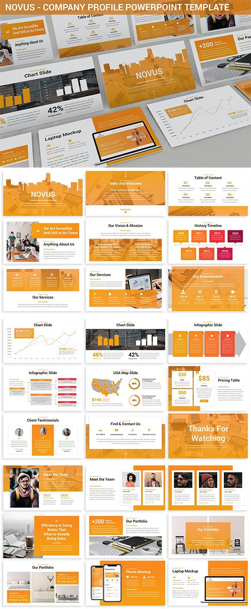 Novus - Company Profile Powerpoint Template