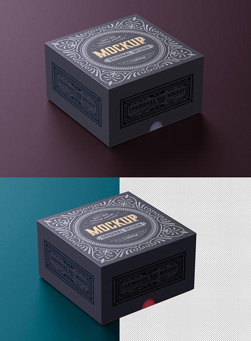 Luxury Cardboard Box Mockup 328596809
