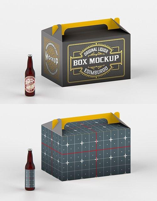 Kraft Paper Pack Beer Bottle Carrier Mockup 328596871