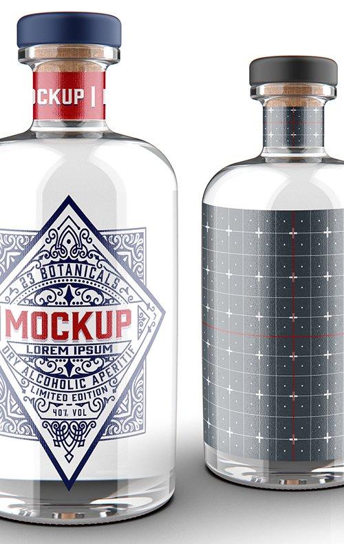 Gin Bottle Mockup 328596851