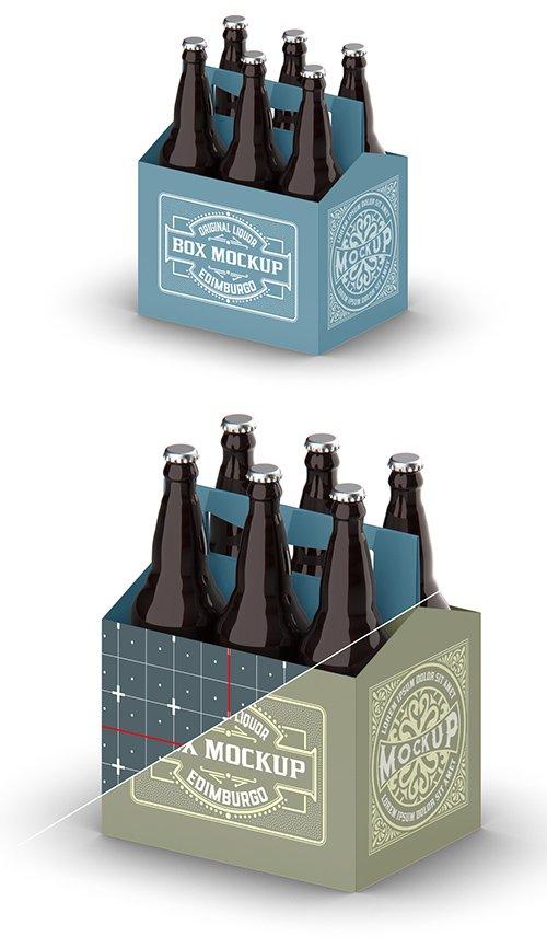Kraft Paper Pack Beer Bottle Carrier Mockup 328596821
