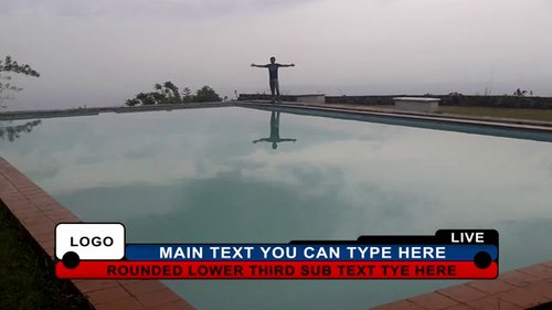 Rounded Lower Third 94254991
