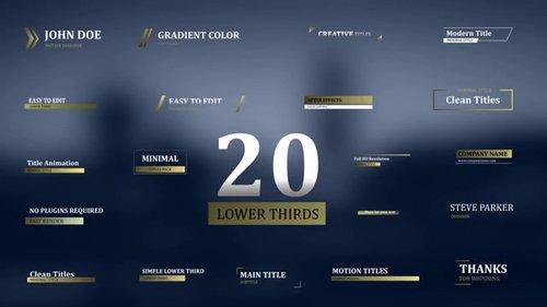 20 Modern Lower Thirds 94317262