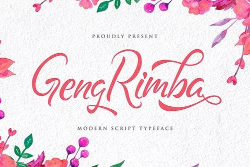 Geng Rimba - Modern Script Font