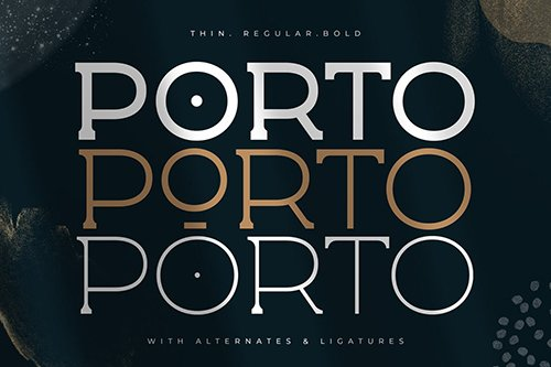 Porto - Display Spur Serif Font