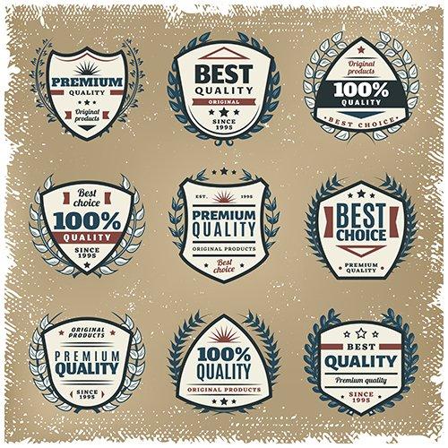 Colored Premium Quality Emblems Set