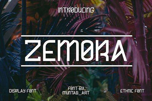 Zemora | Modern Font