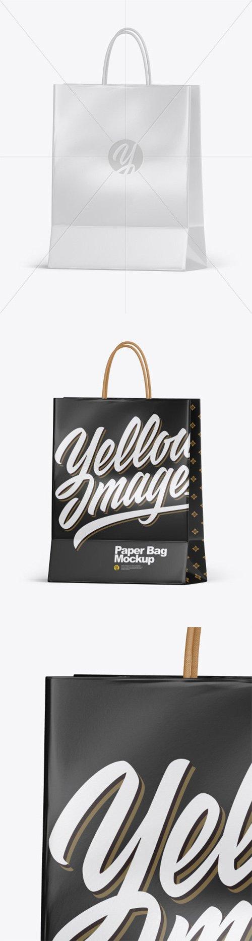 Glossy Shopping Bag w/ Rope Handles Mockup 55643 TIF