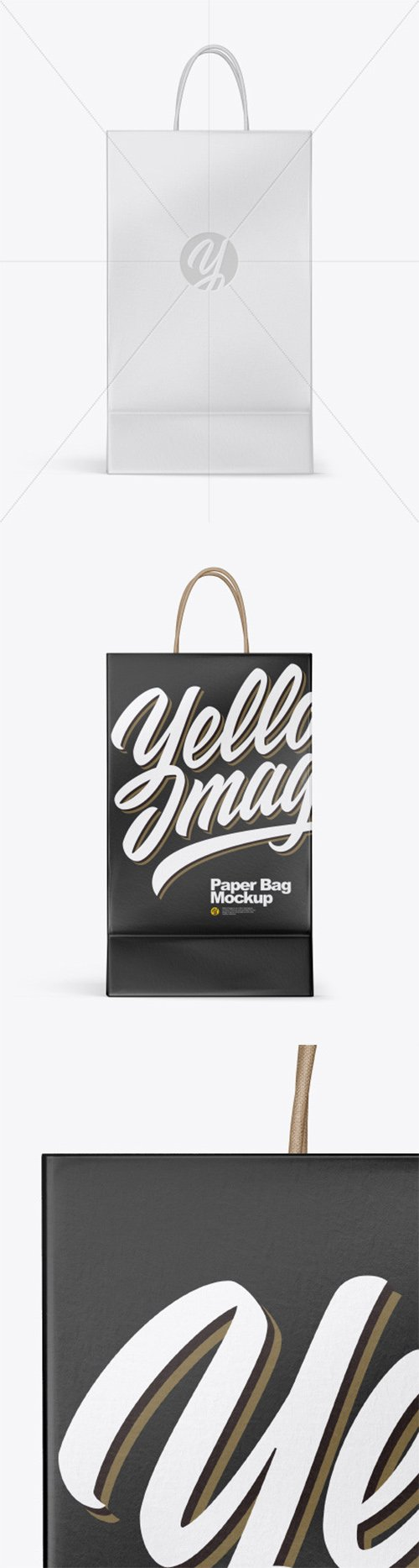 Textured Shopping Bag w/ Rope Handles Mockup 54420 TIF
