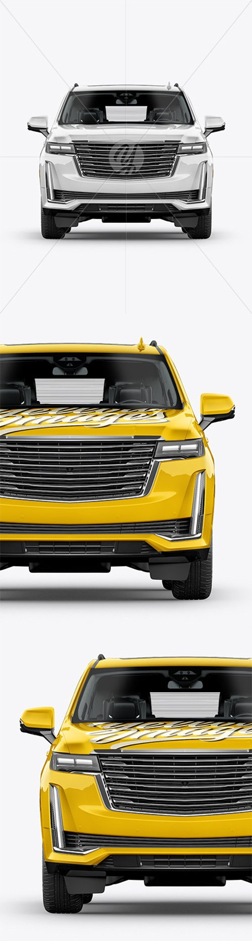Luxury SUV Mockup - Front View 62293