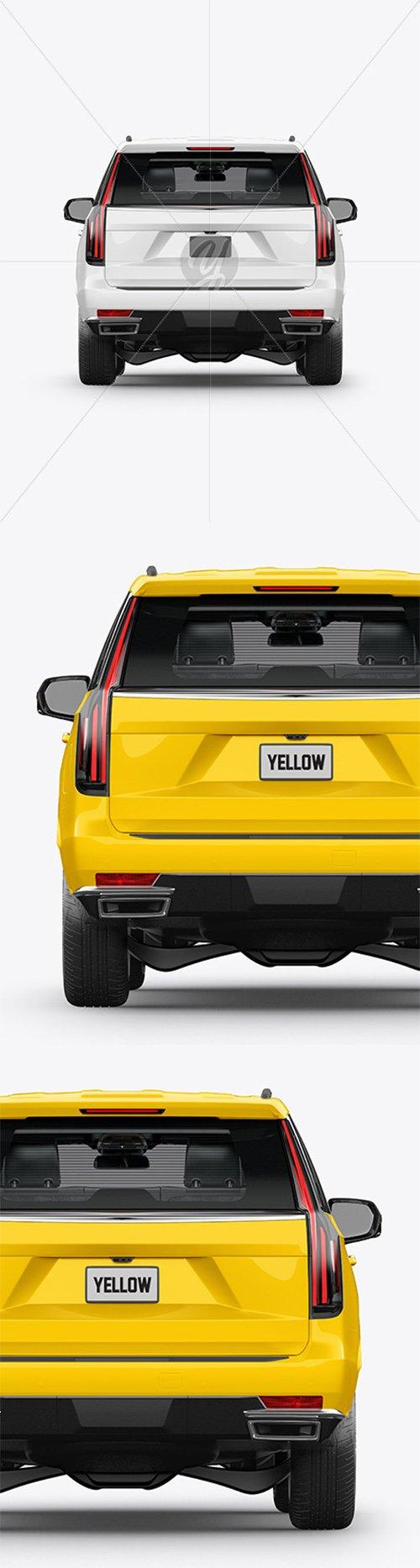 Luxury SUV Mockup - Back View 62259