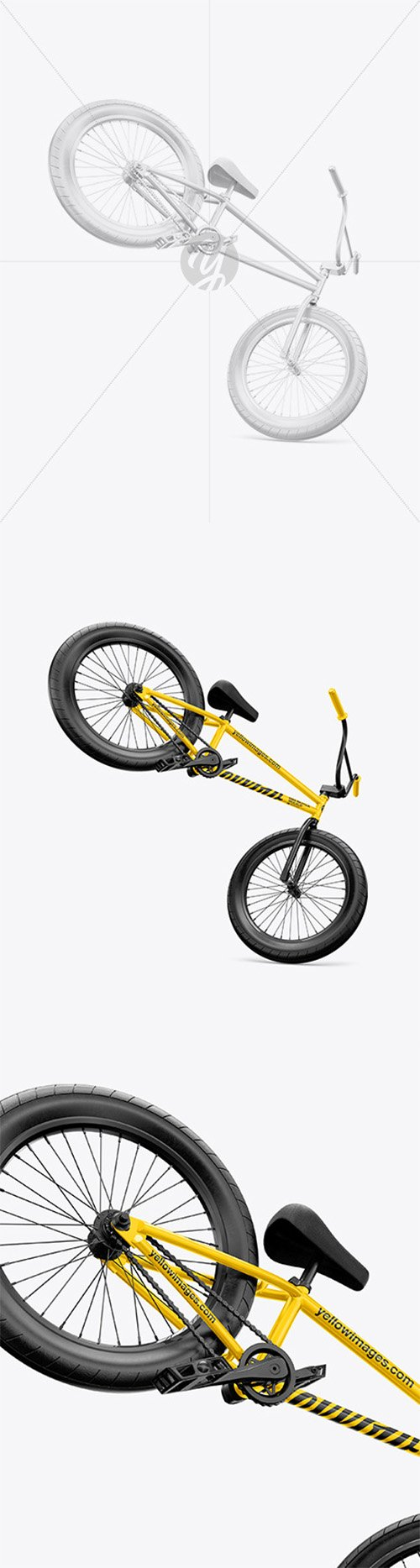 BMX Bicycle Mockup - Right Side View 65230