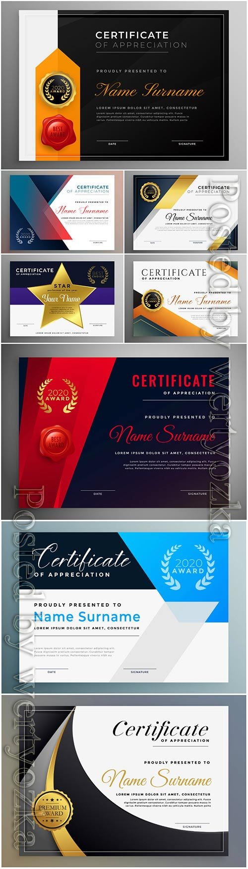 Certificate of appreciation professional vector template