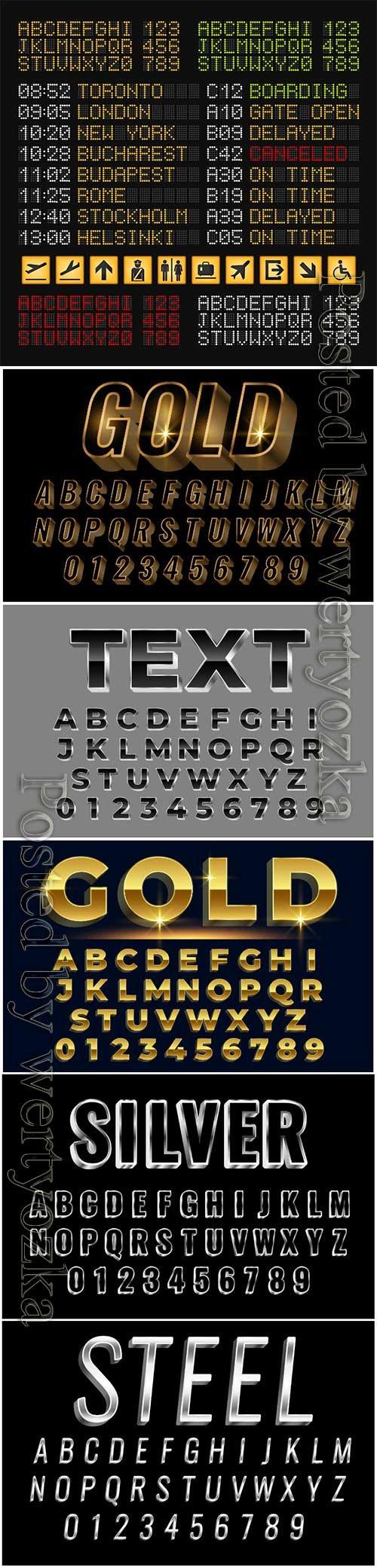 Vector alphabets set premium letters