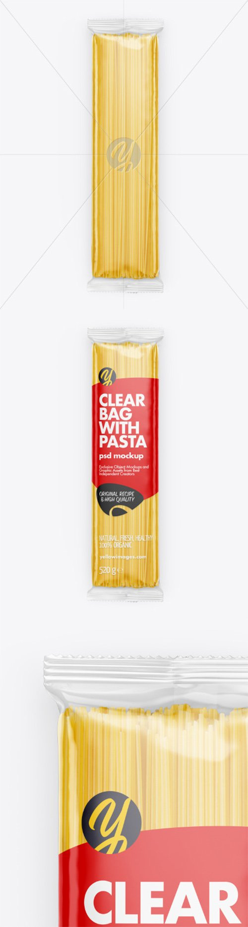 Clear Bag With Pasta Mockup 65610