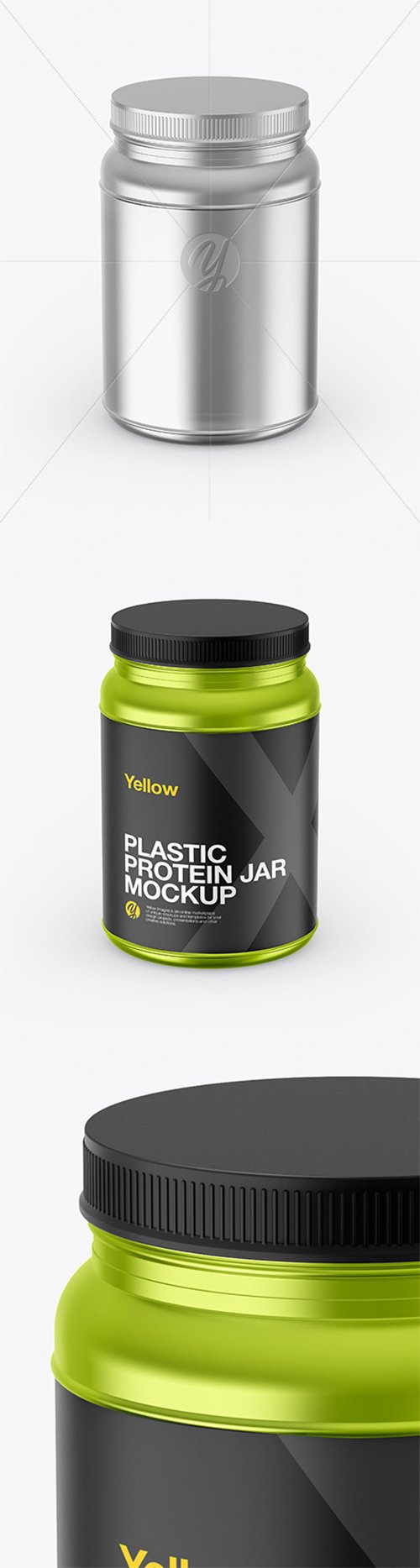 Metallized Protein Jar Mockup 65433