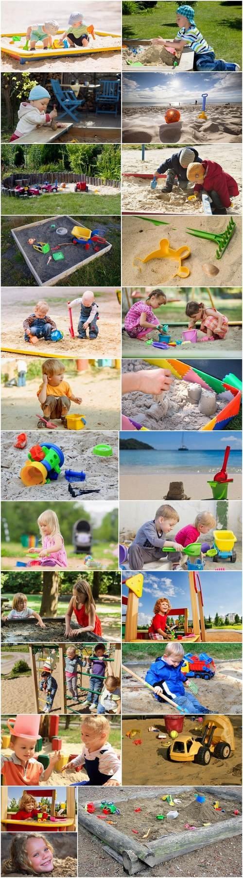 Children child in a sandbox toys 25 HQ Jpeg