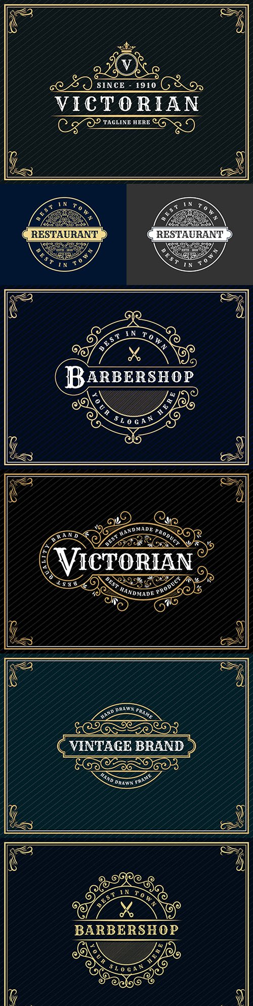 Luxury royal vintage design logo with decorative frame