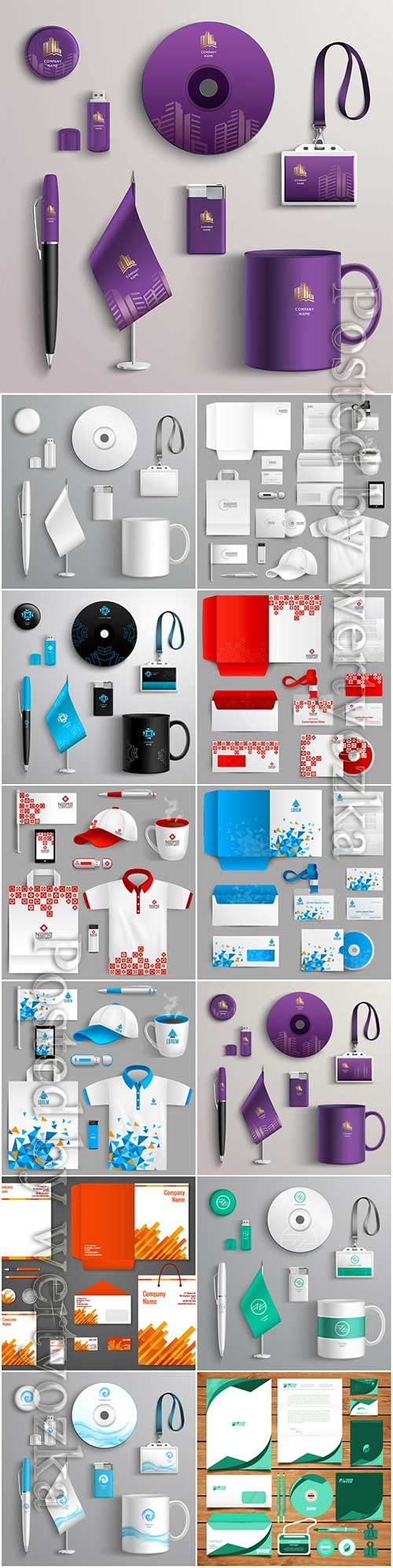 Corporate identity vector design