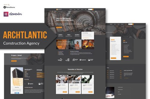 ThemeForest - Archtlantic v1.0 - Construction Agency Elementor Template Kit - 28854783