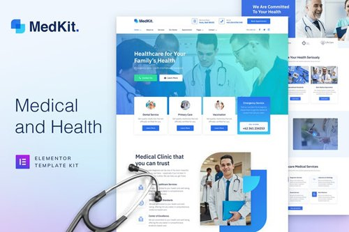 ThemeForest - MedKit v1.0 - Health & Medical Elementor Template Kit - 28885792