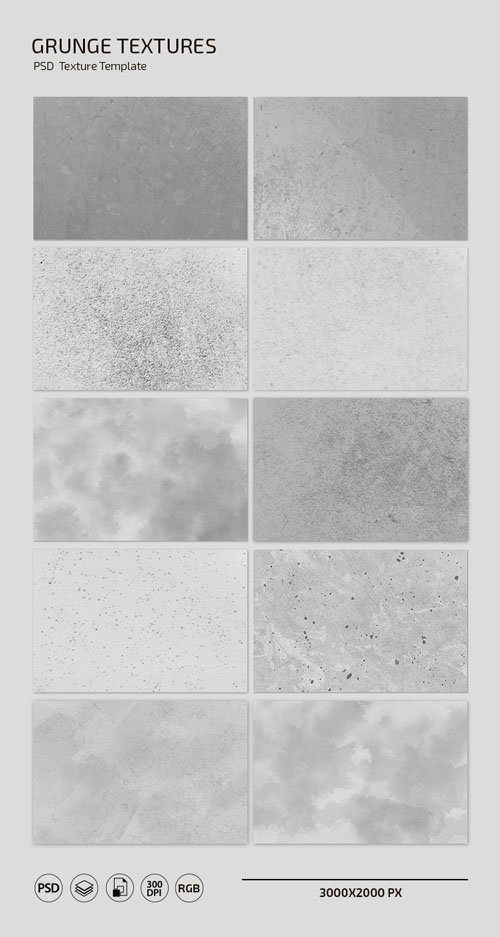 Grunge Textures - PSD Texture Templates in [PSD/PNG/JPG]
