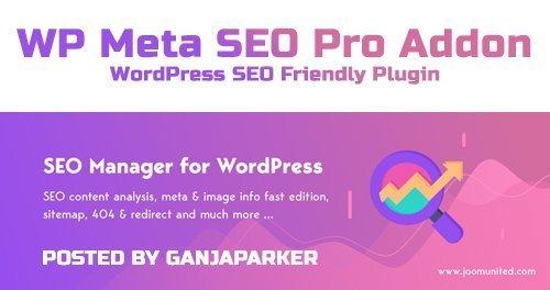 WP Meta SEO Pro Addon v1.4.6 - WordPress SEO Friendly Plugin - JoomUnited