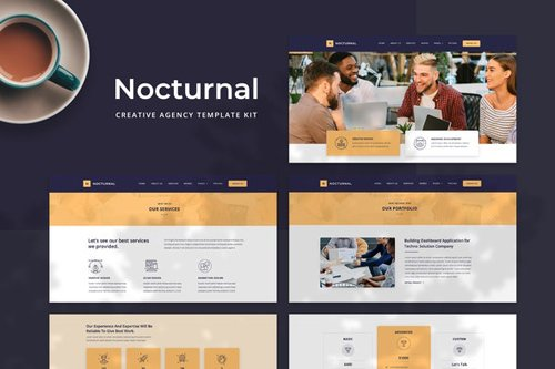 ThemeForest - Nocturnal v1.0 - Creative Agency Elementor Template Kit - 28703824