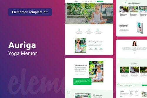 ThemeForest - Auriga v1.0 - Health Coach & Yoga Mentor Elementor Template Kit - 28888720