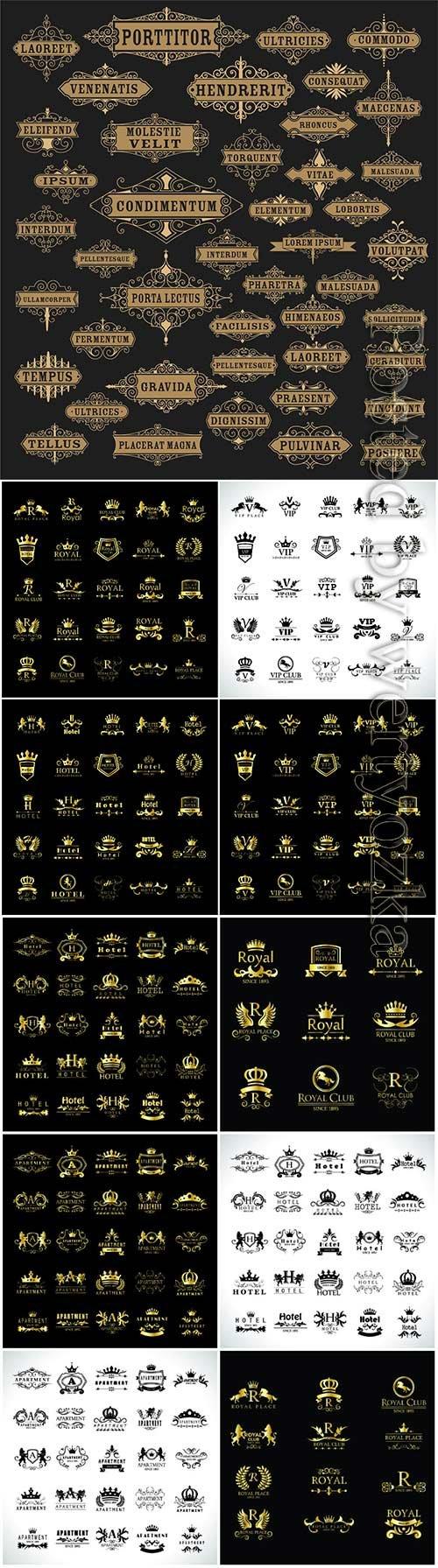 Gold Vector Logo Set