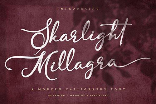 Skarlight Millagra - Modern Script Font