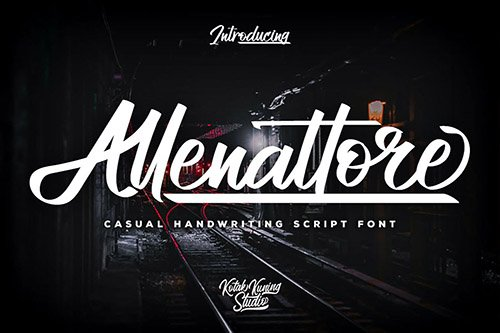 Allenattore - Casual Script Font