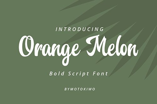 Orange Melon Script Font