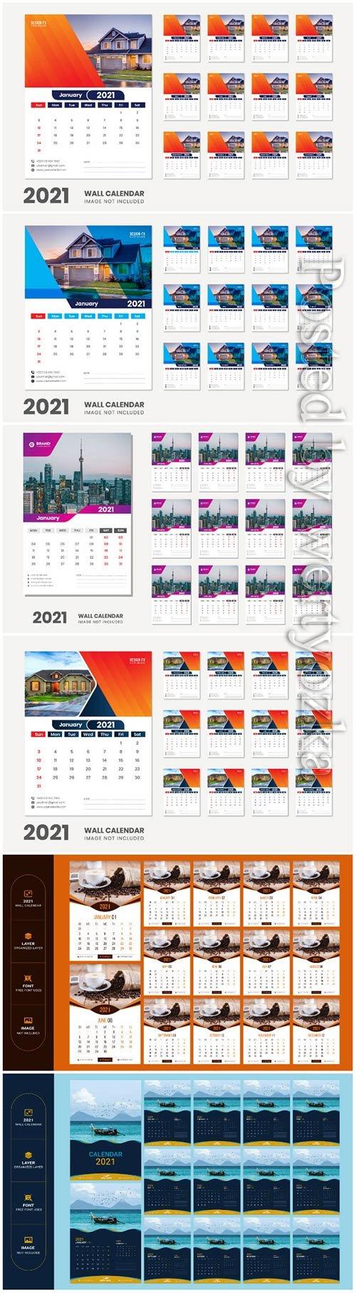 2021 desk calendar - 12 months included