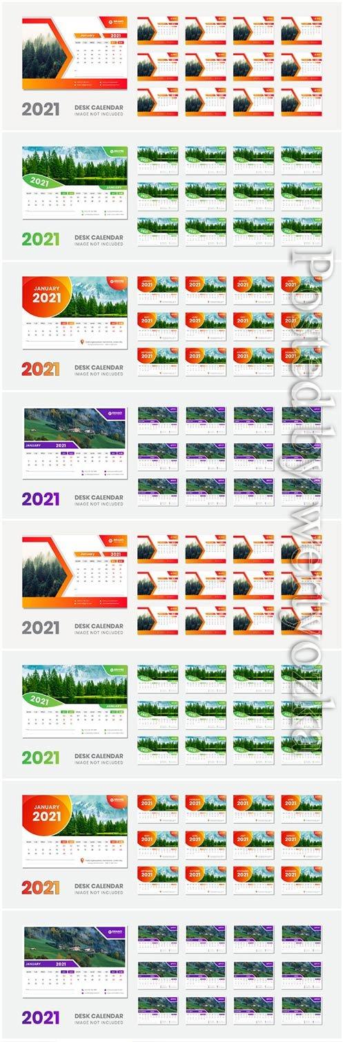 2021 desk calendar new year