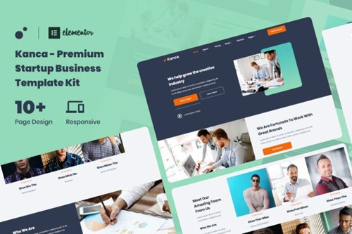 ThemeForest - Kanca v1.0 - Startup Business Consulting Elementor Template Kit - 28767605