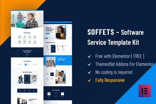 ThemeForest - Soffets v1.0 - Software & IT Service Elementor Template Kit - 28981946