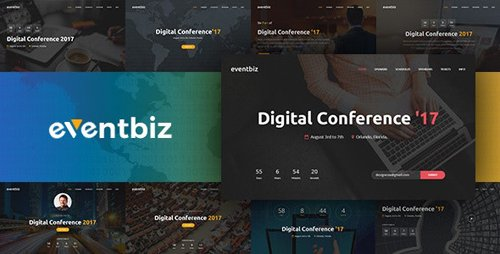 ThemeForest - Eventbiz v1.3 - Event, Conference and Seminar Website Template - 20093477