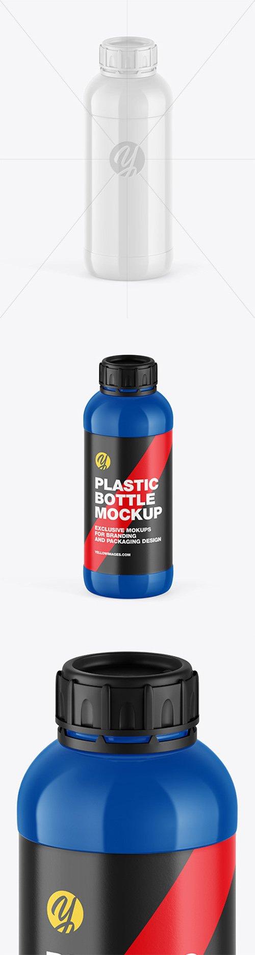 Glossy Plastic Bottle Mockup 66466 TIF