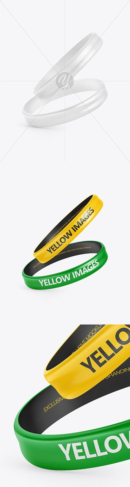 Two Glossy Silicone Wristbands Mockup 66605 TIF