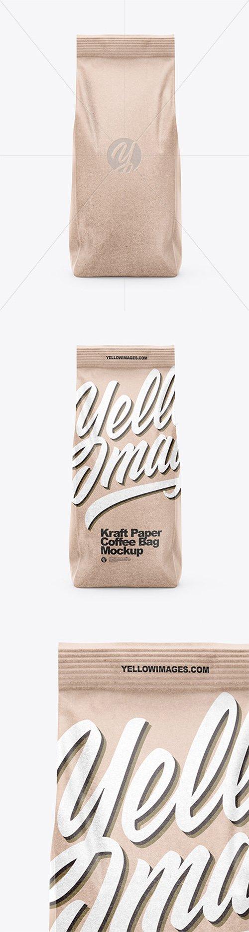 Kraft Coffee Bag Mockup - Front View 66603 TIF