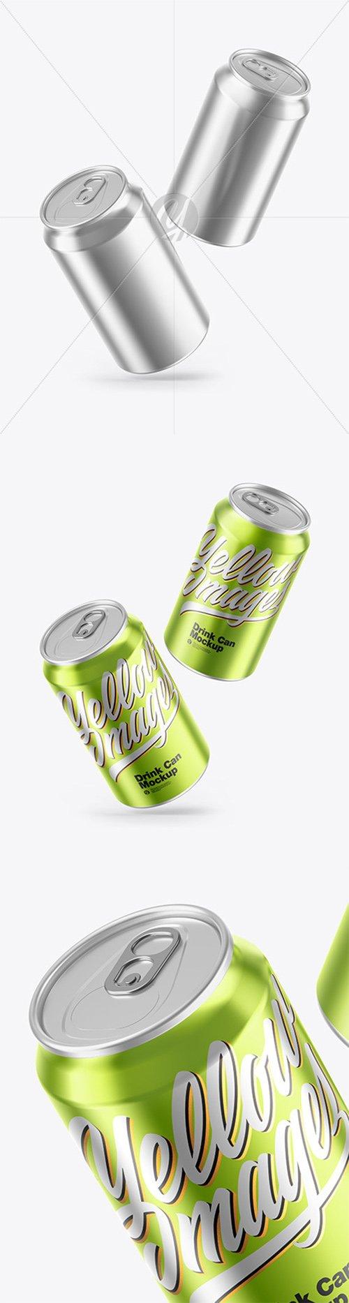 Glossy Metallic Drink Cans Mockup 66564 TIF