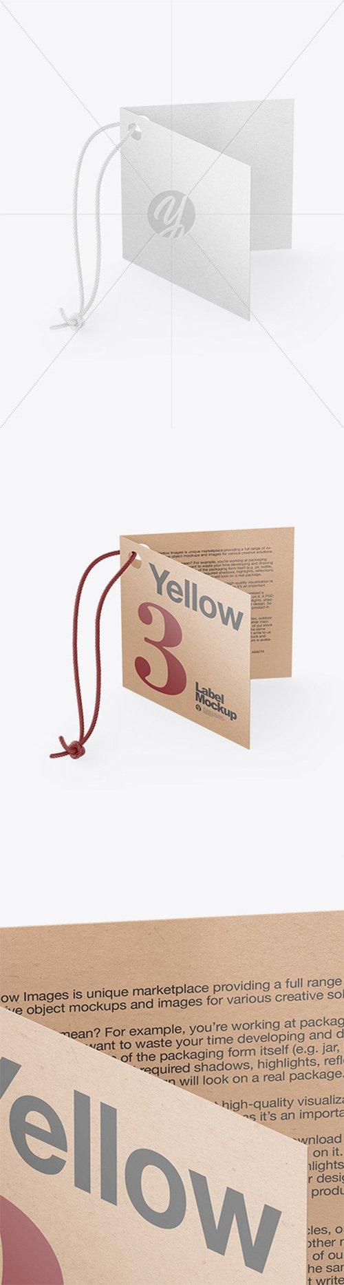 Kraft Folded Label With Rope Mockup 66562 TIF
