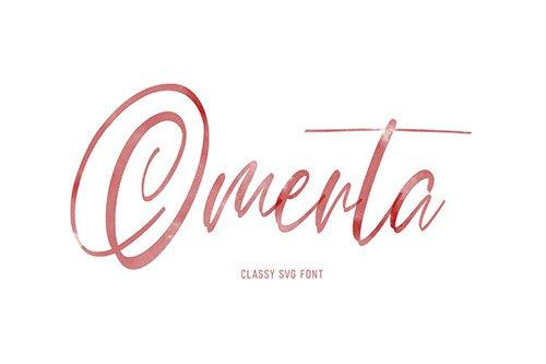 Omerta | Classy SVG Font