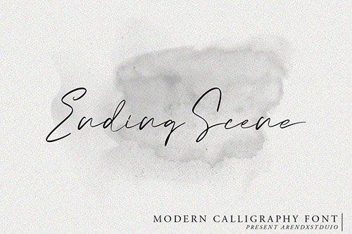 Ending Scene | Calligraphy Font