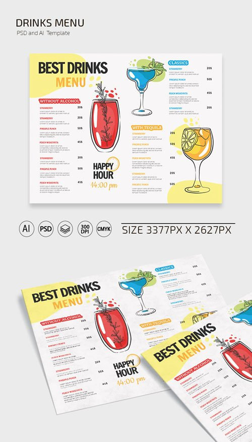 Drinks Menu Templates Collection