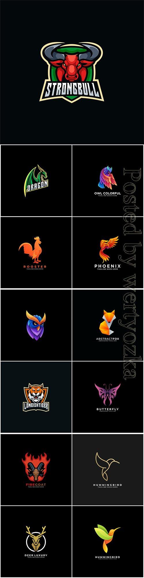 Animals and birds logos in vector vol 5