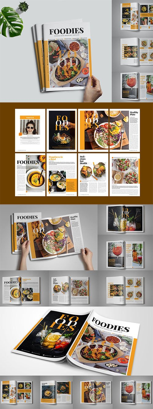 Foodies Magazine Template
